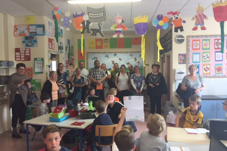 Finnish teachers visit Maureen's 4th class