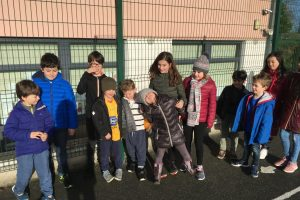 Le Cheile Walkway buddies – Monica's 4th Class and Sinéad's Senior Infants