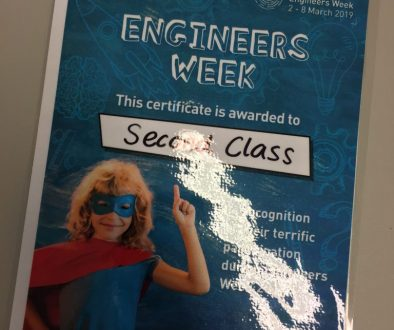 Engineers Week in First and Second Class.